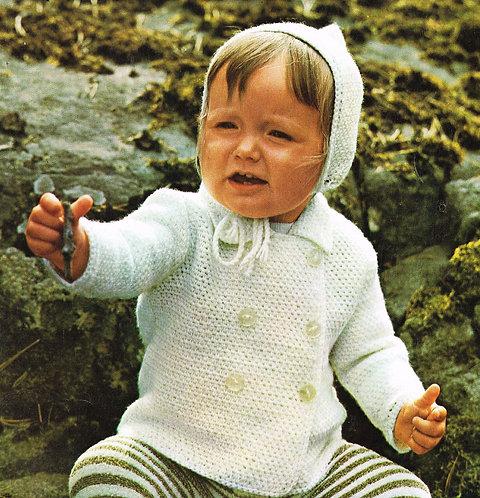 7347Pi baby vintage crochet pattern PDF