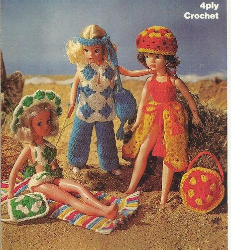 1728M dolls clothes vintage crochet pattern  PDF Download