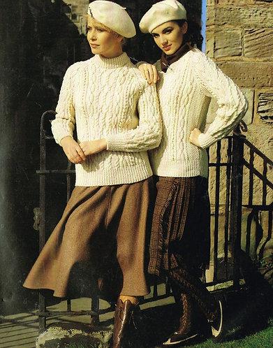 1955H ladies vintage knitting pattern PDF