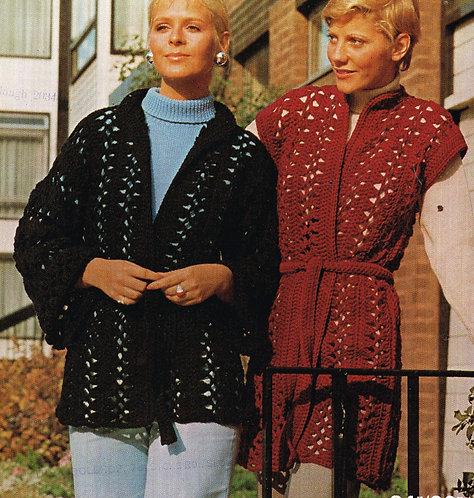 1419W ladies vintage crochet pattern PDF
