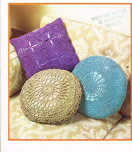 5871T cushion covers vintage crochet pattern  PDF Download
