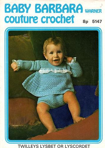 5147Bw baby vintage crochet pattern PDF