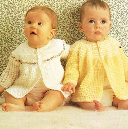 7919P baby matinee coat vintage knitting pattern  PDF Download