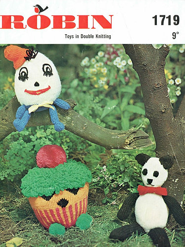 1719R toys vintage knitting pattern  PDF Download
