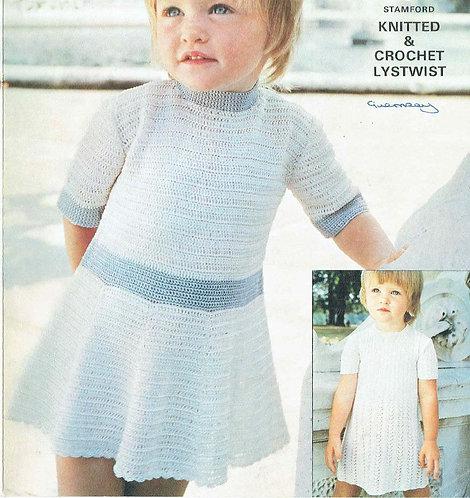 6170T girls dress vintage crochet pattern  PDF Download