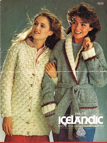 6626Tw ladies vintage crochet knitting pattern PDF