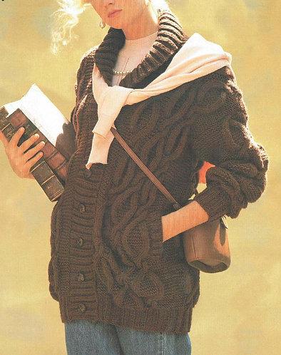 14825R Ladies vintage knitting pattern PDF