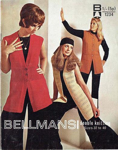 1234Bell ladies vintage knitting pattern PDF