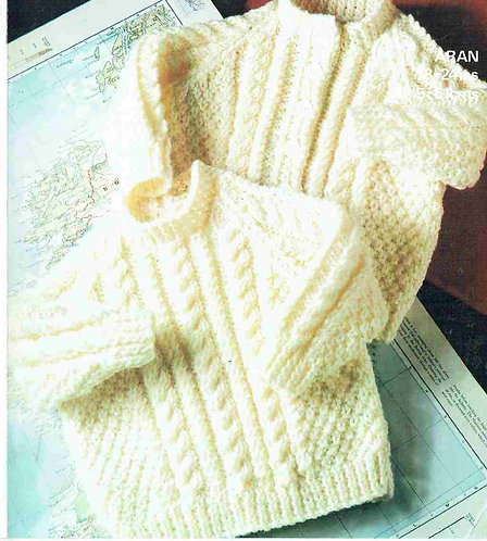 1941M baby jumper cardigan vintage knitting pattern PDF Download