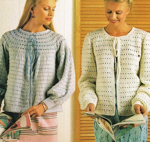 8025Pi Ladies vintage crochet pattern PDF
