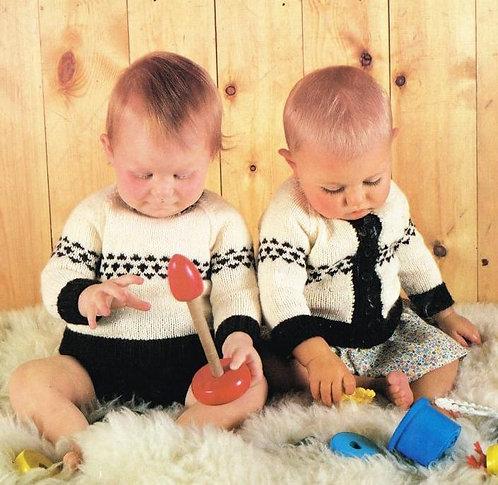110Ar baby vintage knitting pattern PDF