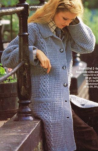 7858Pi ladies vintage knitting pattern PDF