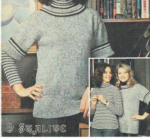 6190T ladies jumper vintage knitting pattern  PDF Download