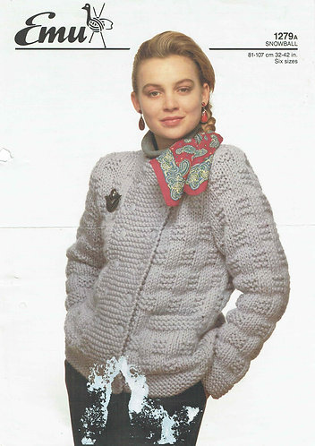 1279E ladies super chunky cardigan PDF