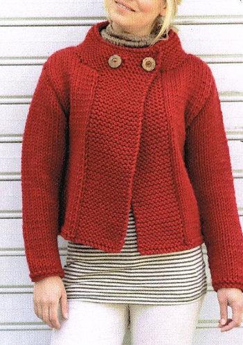 9842 ladies chunky cardigan Vintage knitting pattern  PDF Download