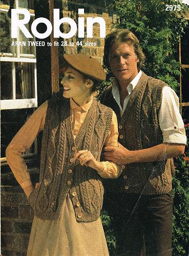 2979R ladies vintage knitting pattern PDF