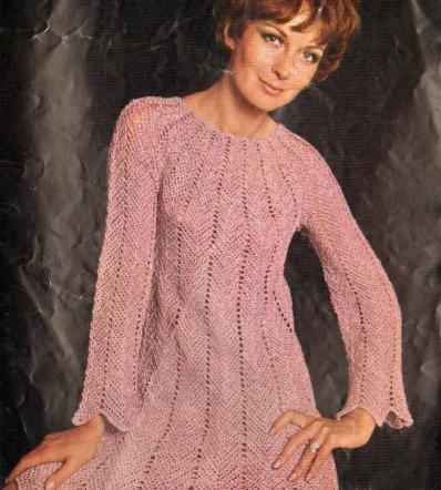774T ladies dress vintage crochet pattern  PDF Download