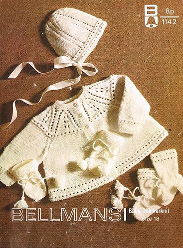 1142Bell baby vintage knitting pattern PDF