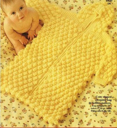 7925P baby sleeping bag vintage knitting pattern  PDF Download