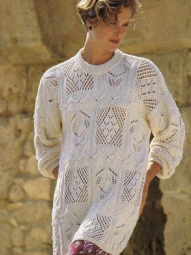 4366H ladies jumper vintage knitting pattern PDF Download