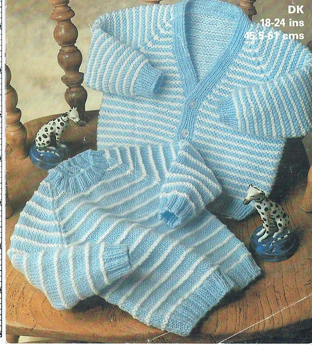 1933M baby cardigan vintage knitting pattern   PDF Download