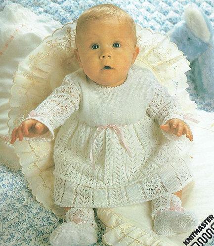 189Ar baby machine knitting vintage pattern PDF