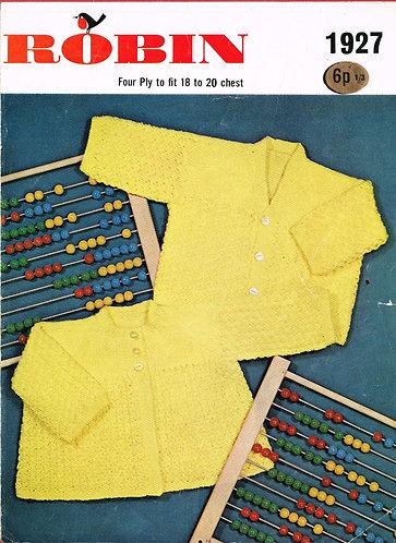 1927R baby matinee coats vintage knitting pattern  PDF Download