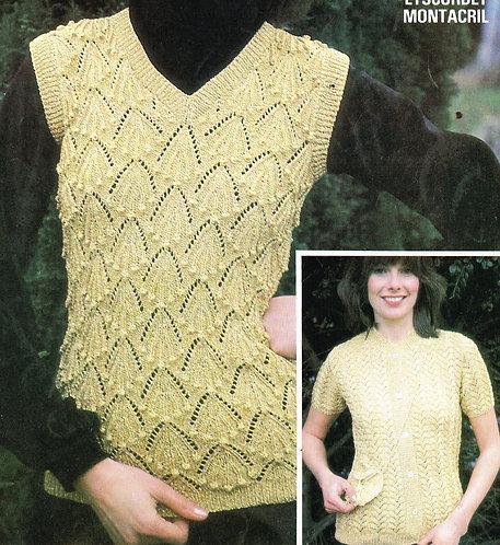 6298Tw ladies vintage knitting pattern PDF
