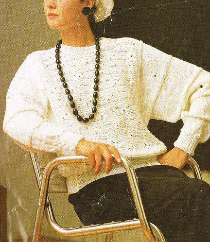 5112P ladies jumper Vintage knitting pattern  PDF Download