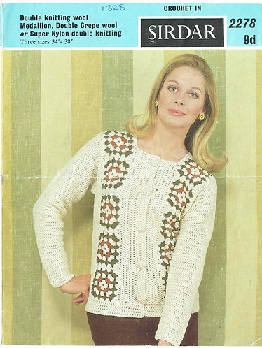 2278S Ladies vintage crochet pattern PDF