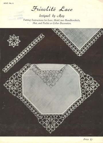 ANP6 vintage tatting pattern PDF