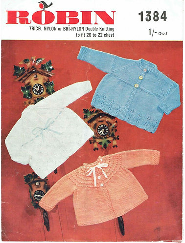 1384R baby matinee coats vintage knitting pattern  PDF Download
