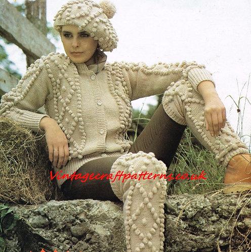 1536Li ladies vintage knitting pattern PDF