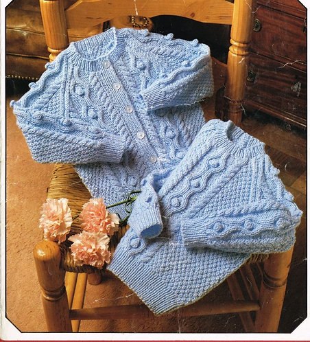853L baby cardigan vintage knitting pattern  PDF Download