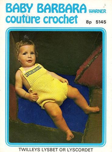 5145Bw baby vintage crochet pattern PDF