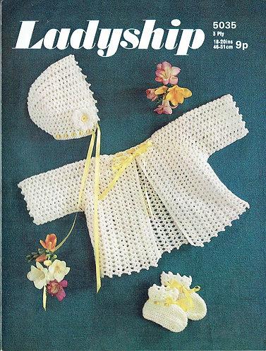 5035La baby vintage crochet pattern PDF
