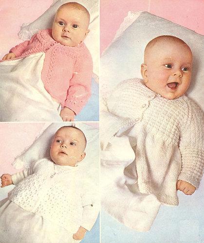 6004P baby vintage knitting pattern PDF