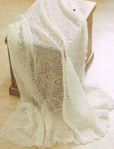 1ply lace baby shawl PDF