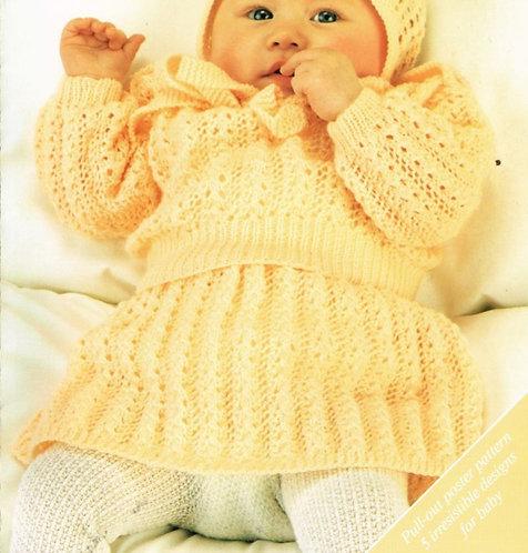 14906R baby jumper skirt set vintage knitting pattern  PDF Download