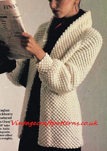 8063Pi ladies cardigan vintage knitting pattern PDF