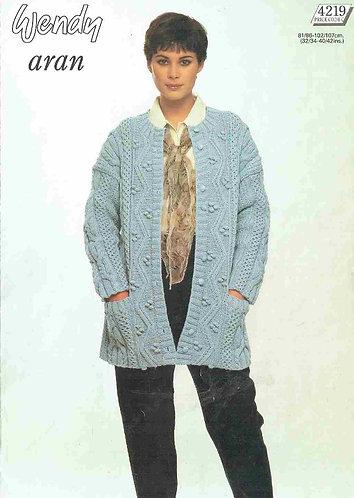 4219W Ladies vintage knitting pattern PDF