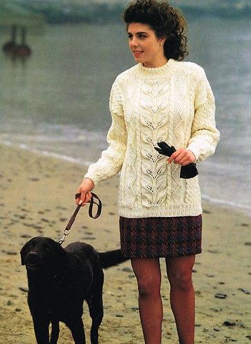 944H ladies jumper Vintage knitting pattern  PDF Download