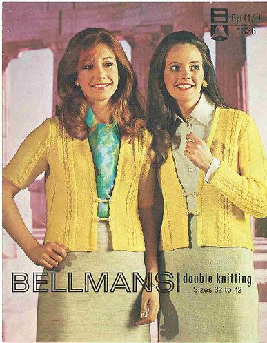 1336Bell ladies vintage knitting pattern PDF