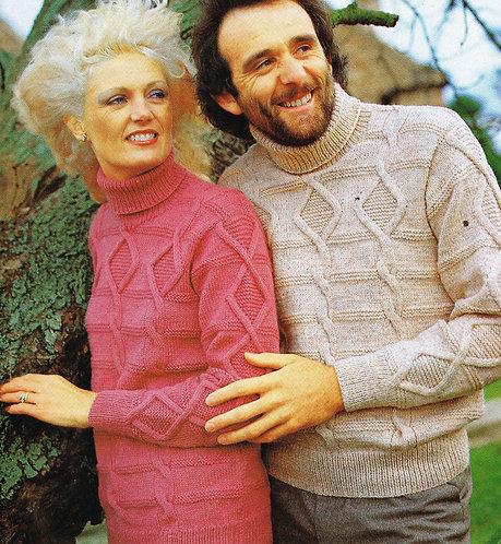 6272S ladies mens vintage knitting pattern PDF