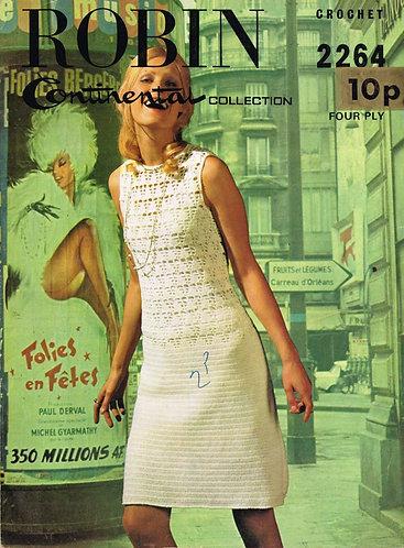 2264R ladies dress vintage crochet pattern  PDF Download