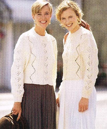 4100H ladies jumpers Vintage knititng pattern  PDF Download
