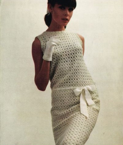 498H ladies dress Vintage crochet pattern  PDF Download
