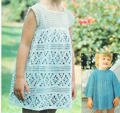 6169T girls dress vintage crochet pattern  PDF Download
