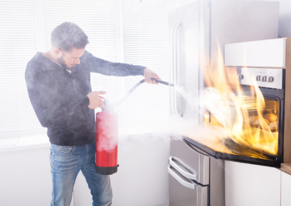 fire extinguisher is an essential residential fire safety equipment