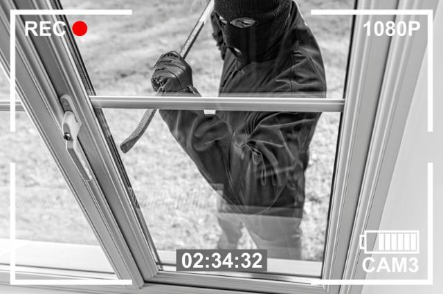 home security camera captures burglar